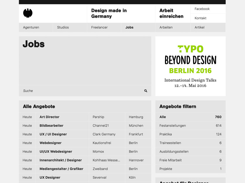 Design made in germany auf for Designer jobs deutschland